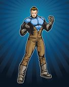 Member of a super hero team. This image is 1 of 4 that have the same color scheme (see portfolio for others). Image is a layered eps for easy editing.