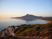 sardinian coast at sunset