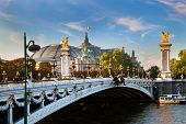 The Grand Palais, Paris, France and the Alexandre Bridge.