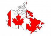 stylized Canada map on white background