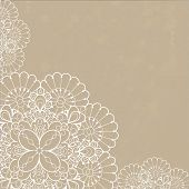 image of neat  - Retro background with lace ornament and space for your text - JPG