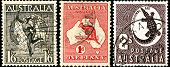Vintage Postage Stamps Of Australia.