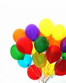 Celebrating With Colorful Balloons