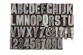 Vintage Metal Alphabet