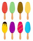 Colorful popsicles vector illustration
