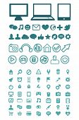 Set Of Vector Technology Icons