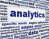 Analytics technical poster design