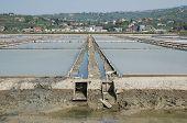 Sluice Gate In Salt Flats