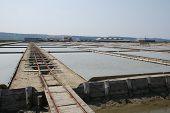 Trailer Track In Salt Crystallization Field