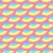 Rainbow fish scales vector seamless pattern