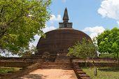 Buddhist Dagoba (stupa) Polonnaruwa, Sri Lanka