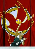 Canada Games Volleyball Serve Woman