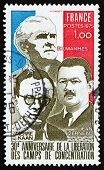 Postage Stamp France 1975 French Flag And French Resistance Leaders