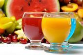 fresh fruits and natural juice