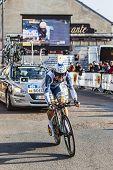 The Cyclist Kris Boeckmans- Paris Nice 2013 Prologue In Houilles