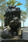 The Immigrants Memorial in Battery Park, New York