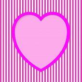 Striped Valentine Card