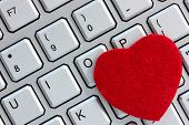 Computer Keyboard With Heart