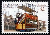 Postage Stamp Australia 1989 Double-deck Electric Tram, Hobart