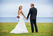 Wedding Couple, Happy Romantic Bride and Groom in Love
