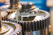 stock photo of spare  - metal gears various spare parts - JPG