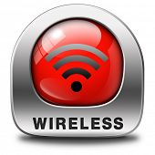 wireless free wifi access area and internet access symbol sign icon or button