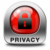 privacy  icon protection of personal online data or confidential information, password protected inf