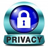 privacy button protection of personal online data or confidential information, password protected in