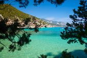Cove with clear turquoise water in Sardinia