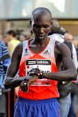 BARCELONA - FEB,2: Kenyan Wilson Kipsang, Current world record holder in the marathon before Granoll
