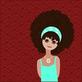 Sweet girl with afro hairstyle