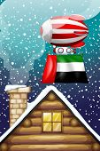 Illustration of a floating balloon with the UAE flag