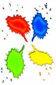 Talk Bubble Splatters