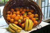 Basket Of Plenty Filled With Fruit