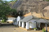Buddha Rock temple in Dambulla, Shri Lanka