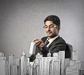 building businessman