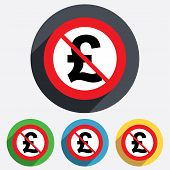No Pound sign icon. GBP currency symbol.