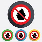 No food. Muffin sign icon. Sweet cake symbol.