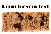 A very tasty and healthy Granola Bar chock full of Oats, Honey, Chocolate Chips, Peanuts, and other