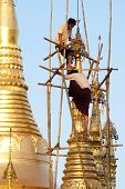 Shwedagon Pagoda Being Renovated