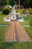 The Dharma Kai Temple In Mini Siam Park
