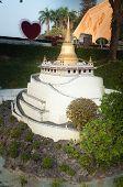 Golden Mountain In Mini Siam Park