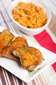 pic of crispy rice  - hearty meal crispy herbed chicken with java rice - JPG