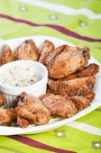 baked wings with sour cream sauce