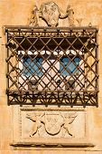 Window With Hard Forge Of The House Of Shells In Salamanca