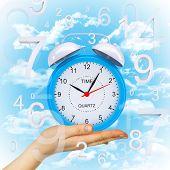 Hand hold alarm clock