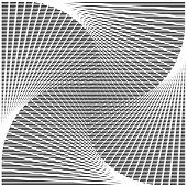Design Monochrome Twirl Movement Illusion Background
