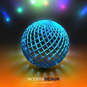 Vector background. Glow Sphere