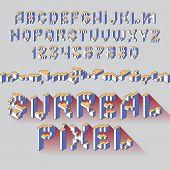 surreal cube latin alphabet letters