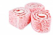Tasty Turkish delight isolated on white